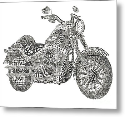 Tangled Harley Davidson Fatboy Metal Print