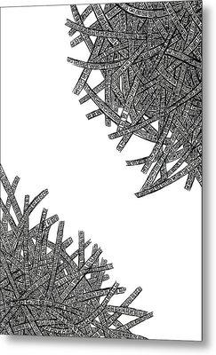 Tangled Up Metal Print by Shabnam Nassir