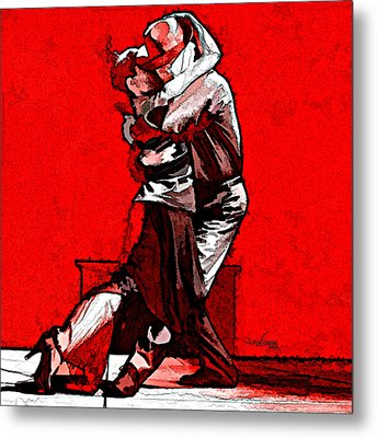 Tango Argentino - Melting Together Metal Print