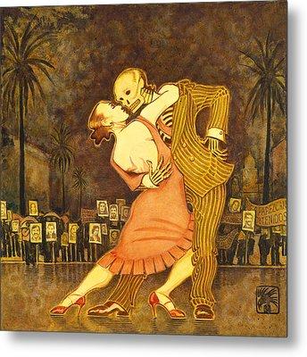 Tango En La Plaza De Mayo Metal Print