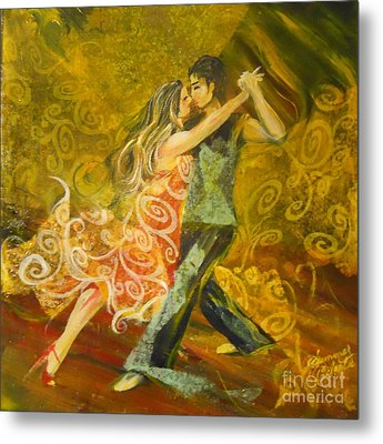 Tango Flow Metal Print