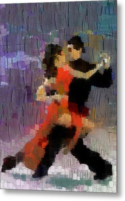 Metal Print featuring the painting Tango by Georgi Dimitrov