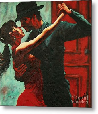 Tango Intensity Metal Print