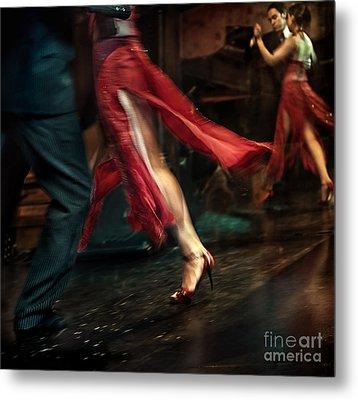 Tango Reflection Metal Print