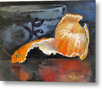 Tangy Tangerine Metal Print by MaryAnne Ardito