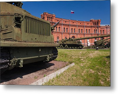 Tanks At Museum Of Artillery Metal Print by Panoramic Images