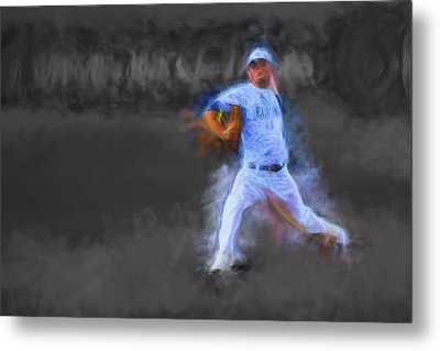 Tanner Tully Elkhart Central Blazers Pitches The Winning Game Champs 2013 Metal Print by David Haskett