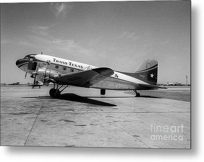 Tans-texas Air Douglas Dc-3 Metal Print by Wernher Krutein
