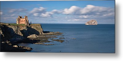 Tantallon Castle And Bass Rock Metal Print