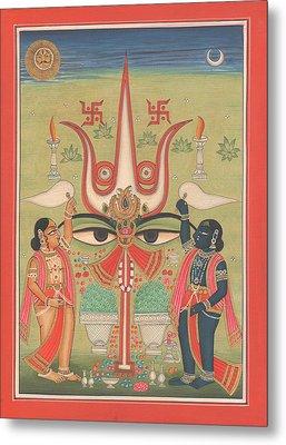 Tantra Tantrik Artwork Painting Hindu Mysterious Art Painting Artist  Metal Print
