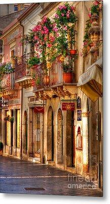 Taormina Balcony Metal Print by Michael Berry