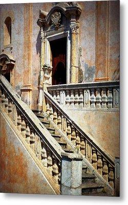 Taormina Staircase Metal Print by Carla Parris