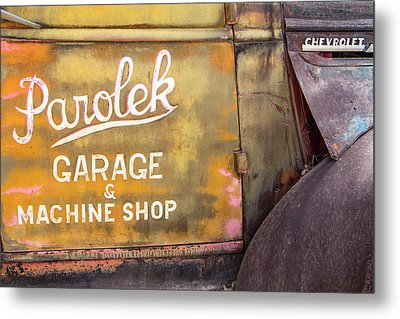 Metal Print featuring the photograph Taos Chevy by Steven Bateson