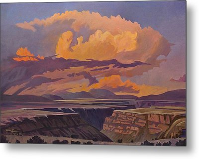 Taos Gorge - Pastel Sky Metal Print by Art James West
