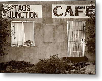 Taos Junction Cafe Metal Print by Steven Bateson