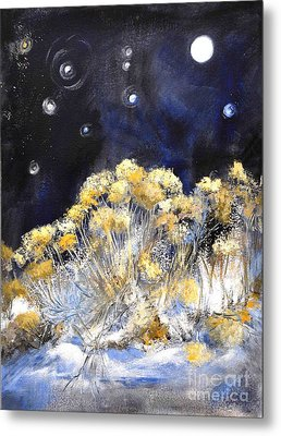 Taos Night Orbs Metal Print