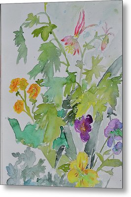 Metal Print featuring the painting Taos Spring by Beverley Harper Tinsley