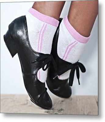 Tap Dance Shoes From Dance Academy - Tap Point Tap Metal Print