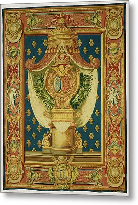 Tapestry Chancellerie Executed By Etienne-claude Le Blond Metal Print by Litz Collection