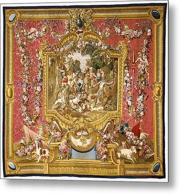 Tapestry La Poltronnerie De Sancho à La Chasse Metal Print by Litz Collection