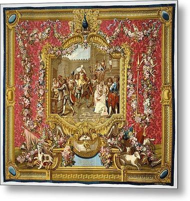 Tapestry Lentrée De Sancho Dans Lile De Barataria Metal Print by Litz Collection