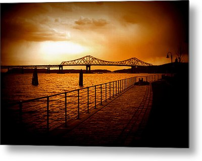 Tappan Zee Bridge Metal Print by Aurelio Zucco