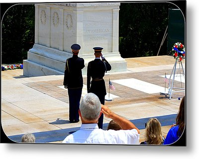 Metal Print featuring the photograph Taps At The Tomb Of The Unknown by Patti Whitten
