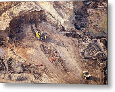 Tar Sands Deposits Being Mined Metal Print