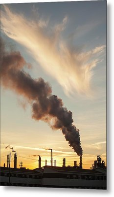 Tar Sands Upgrader Plant Syncrude Mine Metal Print by Ashley Cooper