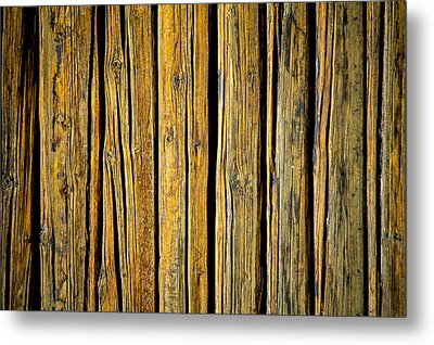 Tar-treated Wooden Wall Metal Print by Hakon Soreide