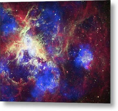 Tarantula Nebula Metal Print by X-ray: Nasa/cxc/psu/l.townsley Et Al.; Optical: Nasa/stsci; Infrared: Nasa/jpl/psu/l.townsley Et Al.