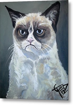 Tard - Grumpy Cat Metal Print by Tom Carlton