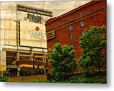 Target Field Home Of The Minnesota Twins Metal Print by Susan Stone