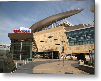 Target Field - Minnesota Twins Metal Print by Frank Romeo