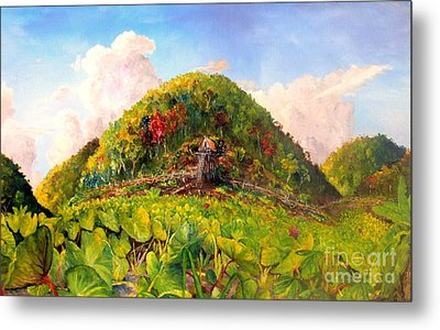 Taro Garden Of Papua Metal Print by Jason Sentuf