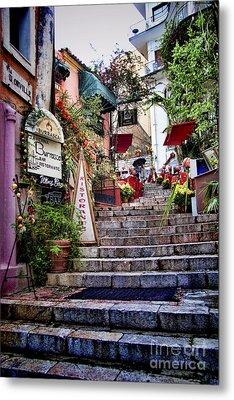 Taormina Steps Sicily Metal Print