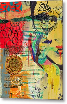 Tarot Card Abstract 007 Metal Print by Corporate Art Task Force