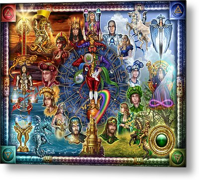 Tarot Of Dreams Metal Print by Ciro Marchetti