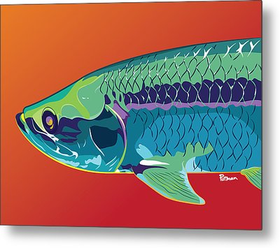 Tarpon Colors Metal Print by Kevin Putman