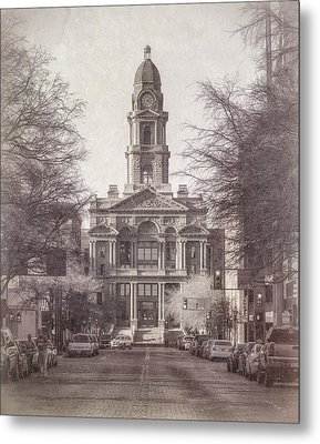Tarrant County Courthouse Metal Print by Joan Carroll