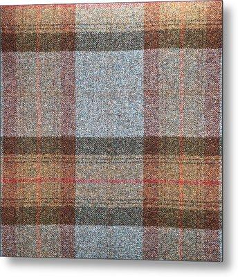 Tartan Wool Metal Print by Tom Gowanlock