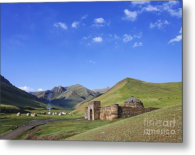 Tash Rabat Caravanserai In The Tash Rabat Valley Of Kyrgyzstan  Metal Print by Robert Preston
