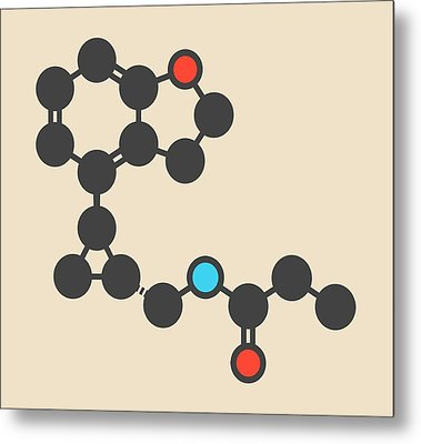 Tasimelteon Sleep Disorder Drug Molecule Metal Print by Molekuul