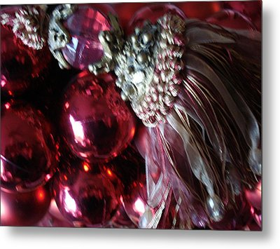 Tassel With Red Ornaments Metal Print