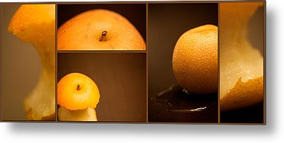 Tasty Pear Metal Print by Lisa Knechtel