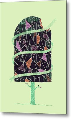Tasty Tree Metal Print by Hector Mansilla