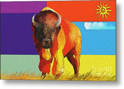 Tatonka Metal Print by GCannon