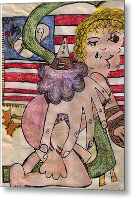 Tatoo Baby Metal Print by Lois Picasso