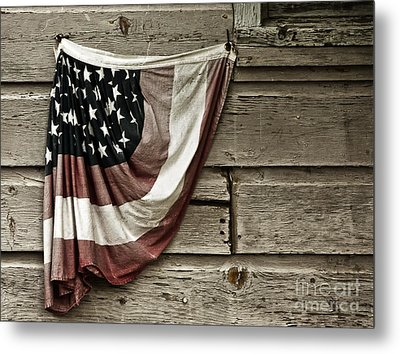 Metal Print featuring the photograph Tattered Glory by Vicki DeVico