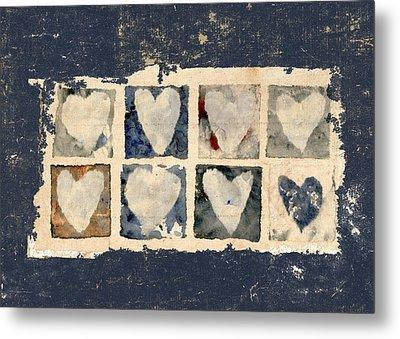 Tattered Hearts Metal Print